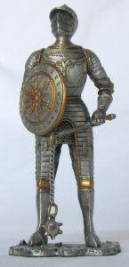 Knight's armor with shield and mace