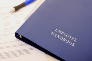 Cover of an employee handbook