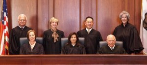 Photo of the justices of the California Supreme Court