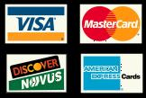 Credit card logos - symbolic of merchant accounts