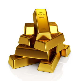Picture of several gold bars, symbolizing the cost of misclassifying an independent contractor