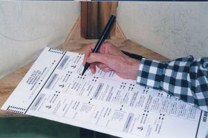 Photo of a ballot for post about non-voting shares